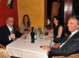 Adriano Galliani a tavola con Enrico Preziosi. Fotogramma