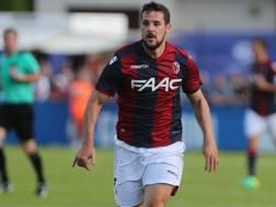 Mattia Destro, 25 anni, � tornato oggi in campo dopo l'infortunio patito nella gara di San Siro contro l'Inter, datata 12 marzo. Bolognafc
