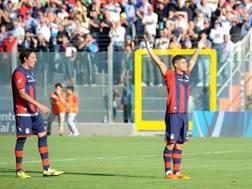 Giuseppe Torromino, 28 anni, è il nuovo attaccante del Lecce. Lapresse.