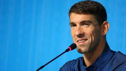 Michael Phelps, 31 anni, ai microfoni della conferenza stampa a Rio de Janeiro GETTY IMAGES