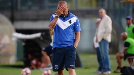 La delusione di Cristian Brocchi. LaPresse