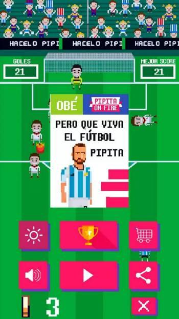 Una grafica dell'App creata in Argentina