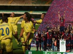 Il Chievo dei miracoli e il Crotone in festa per la storica promozione in Serie A. LaPresse