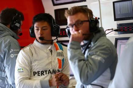 Rio Haryanto, 23 anni, indonesiano, alla prima stagione in F.1 con la Manor-Mercedes LAPRESSE