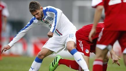 Domenico Berardi � rimasto a secco contro l'Albania. LaPresse