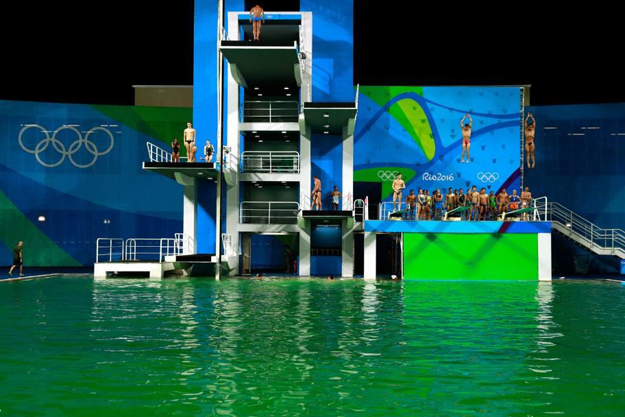 Olimpiadi tania cagnotto e la piscina verde la gazzetta dello sport - Piscina olimpiadi ...