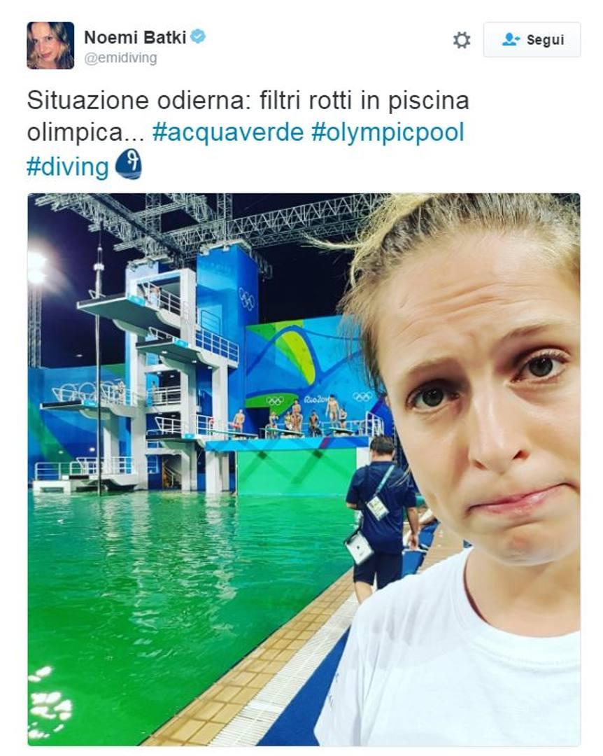 Rio 2016 la piscina dei tuffi verde la gazzetta dello - Piscina olimpiadi ...