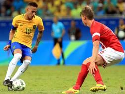 Il numero 10 del Brasile Neymar, stella del torneo olimpico di calcio. Getty Images