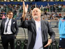 Il presidente del Napoli, Aurelio De Laurentiis. LaPresse