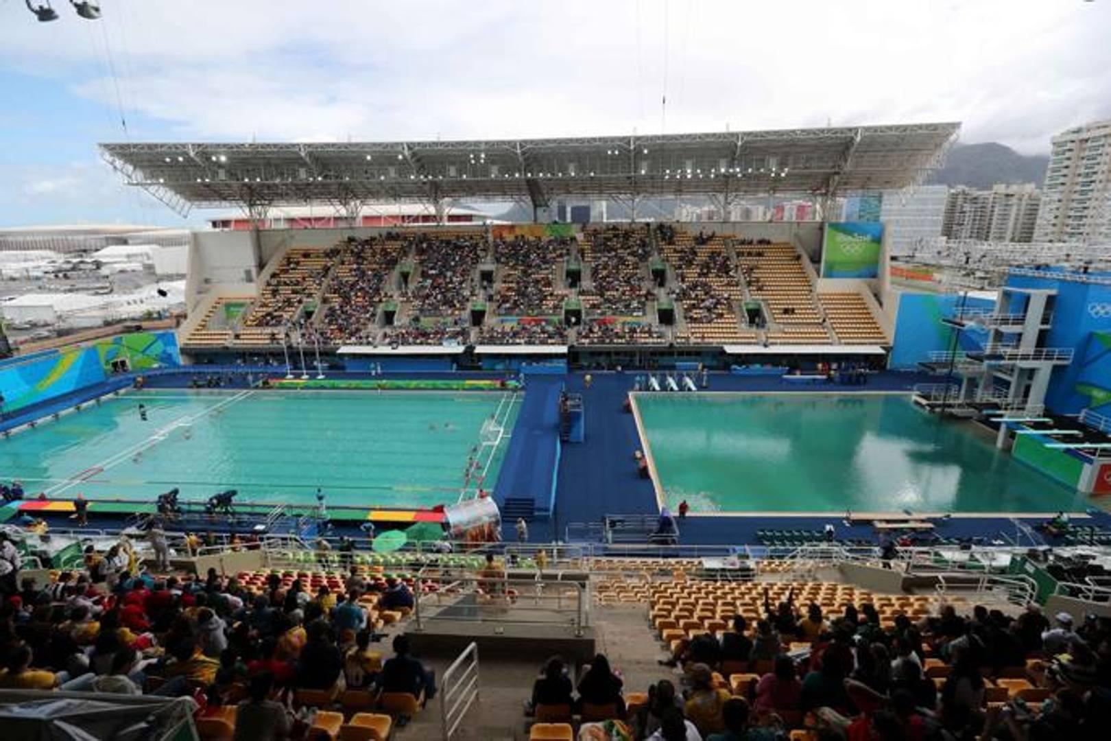 Acqua azzurra acqua chiara la piscina di rio la - Piscina olimpiadi ...
