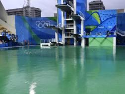 La piscina olimpica dei tuffi. Afp