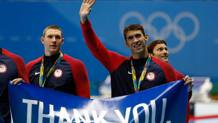 Il grazie di Michael Phelps. Getty