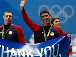 Il grazie di Michael Phelps. Getty