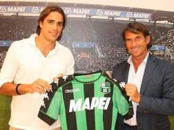 Alessandro Matri con la nuova maglia del Sassuolo