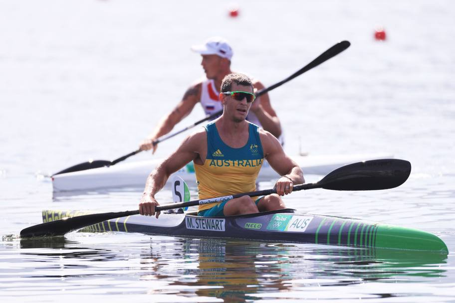 Canoa 1000 metri finale. Davanti l' australiano Murray Stewart . (Getty)