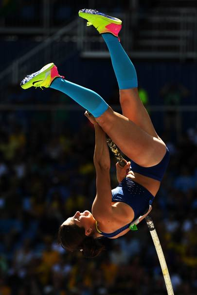 Salto con l' asta. L' ucraina Maryna Kylypko. (Getty)