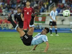 Giovanni Simeone, 21 anni, con l'Argentina all'Olimpiade. Getty
