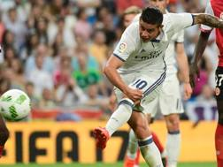 James Rodriguez, attaccante colombiano del Real Madrid. Afp