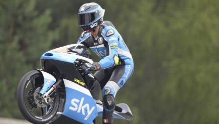 Andrea Migno, pilota del team VR46. Getty