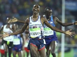 Mo Farah trionfa anche nei 5000 di Rio. Reuters