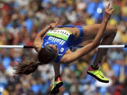 Il salto in alto di Alessia Trost. Reuters