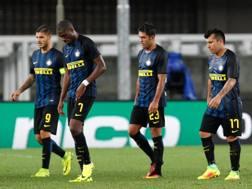 La delusione dei giocatori dell'Inter. LaPresse