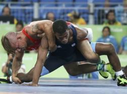 Frank Chamizo nel match per il bronzo con l'americano Molinaro. Reuters