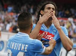 Edinson Cavani, 29 anni, ai tempi del Napoli. Afp