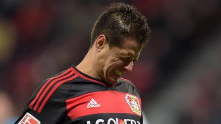 Javier Hern�ndez Balc�zar, 28 anni, attaccanet messicano del bayern Leverkusen. Epa