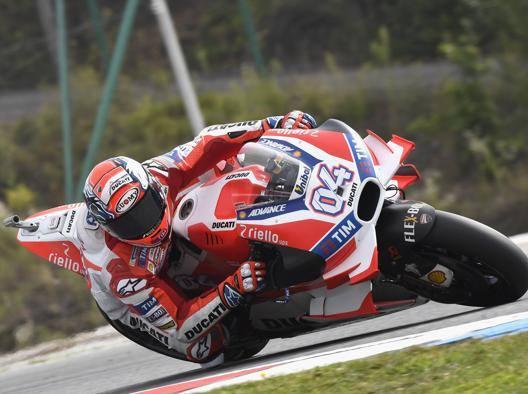 Andrea Dovizioso sulla Ducati. Getty