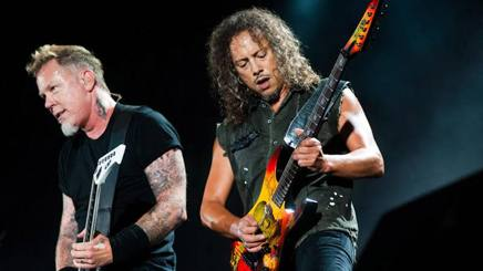 James Hetfield  e Kirk Hammett