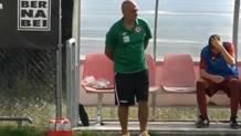 Il sindaco Sergio Pirozzi nella veste di allenatore