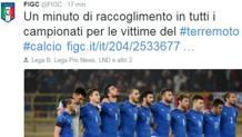 Il tweet della FIGC che annuncia un minuto di silenzio in tutti i campionati