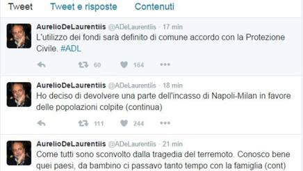 I tweet di Aurelio De Laurentiis