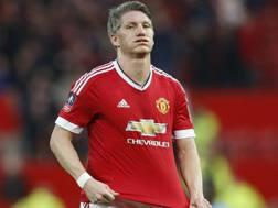 Bastian Schweinsteiger, 32 anni, centrocampista tedesco del Manchester United. Reuters