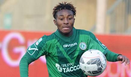 Samuel Bastien, 19 anni, lo scorso anno in prestito all'Avellino. LaPresse
