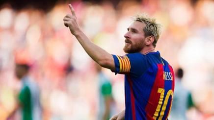 Leo Messi con la nuova acconciatura