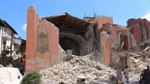 I danni del terremoto ad Amatrice. LaPresse