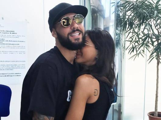 Simone Zaza, 25 anni, con la fidanzata Chiara. Instagram