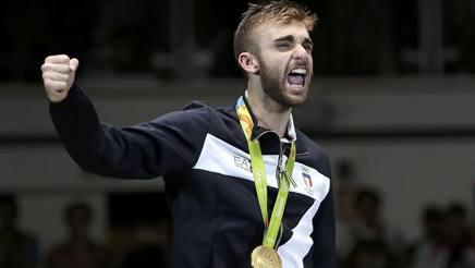 Daniele Garozzo sul podio di Rio. Reuters