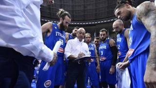 Il gruppo azzurro con Messina. CiamCast
