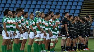 Amichevole Zebre Rugby vs Benetton Treviso il minuto di silenzio prima dell'incontro