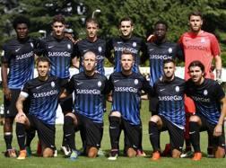 La formazione dell'Atalanta 2016-17. Lapresse