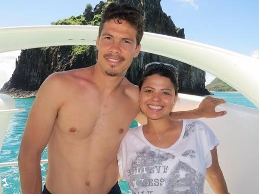 Hernanes e la moglie Erica