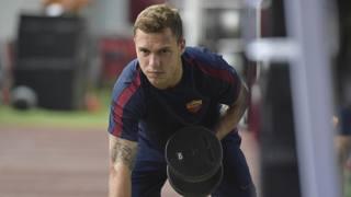 Lorenzo Di Livio, 19 anni, si allena in palestra con la Roma. Getty Images