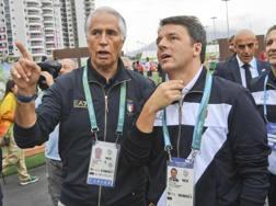 Matteo Renzi e Giovanni Malago a Rio de Janeiro ANSA