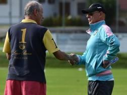 Il presidente del Palermo Maurizio Zamparini e il tecnico Davide Ballardini
