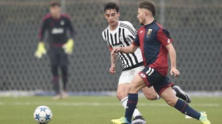Edoardo Bianchi con la maglia degli Allievi della Juventus. LaPresse