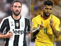 Gonzalo Higuain, 28 anni, costato alla Juve 90 milioni, e Gabigol, 20, costato all'Inter 29,5. Gasport