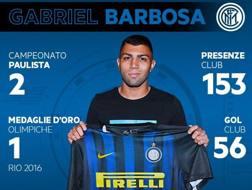 Gabigol posa con la maglia dell'Inter. Twitter